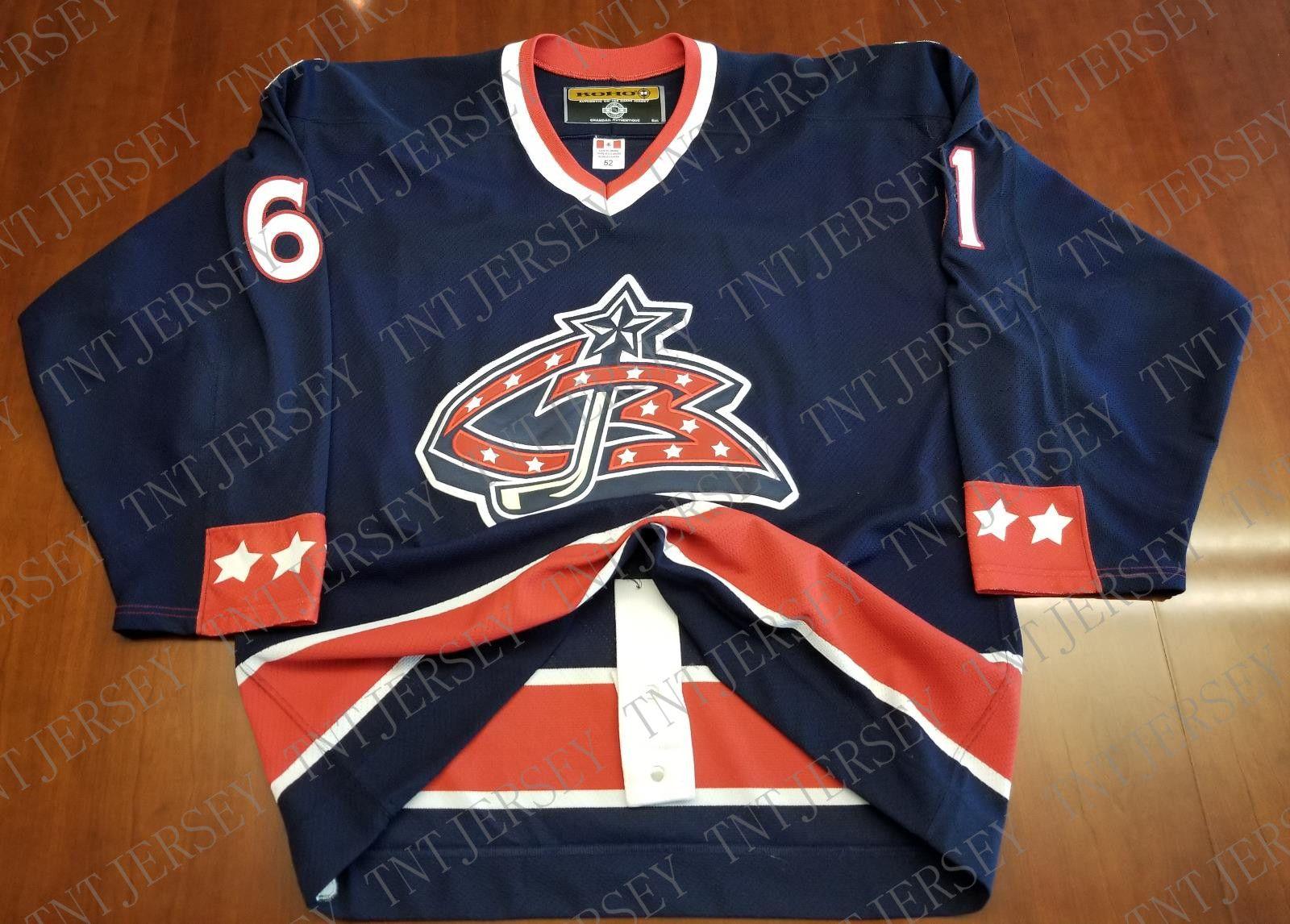 new products 908ea 9d6fe Cheap custom Rick Nash Vintage Columbus Blue Jackets Koho Center Ice Jersey  Stitched Retro Hockey Jersey XS-5XL