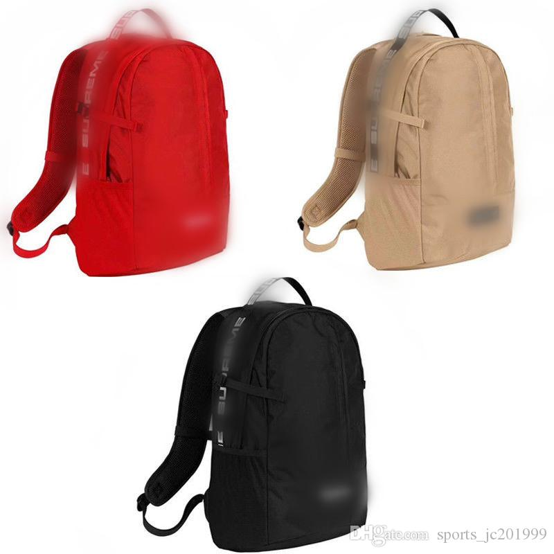 3b6351f15aa1 NEW shoulder Bag 18ss red black Drop Hypebeast waist bag Backpack nylon bags