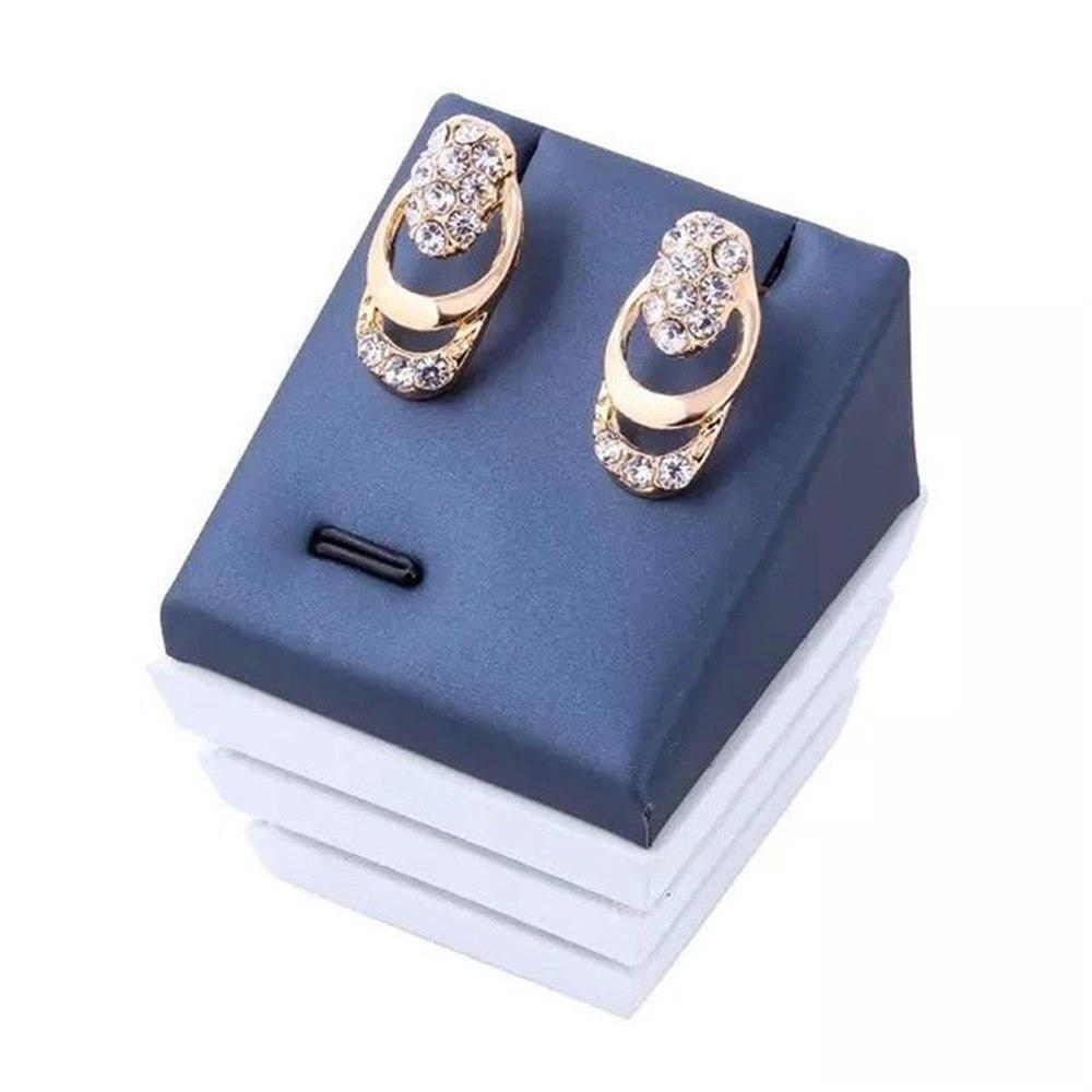 4 teile / satz Kristall Quaste Halskette Ring Ohrringe Set Frauen Braut Hochzeit Schmuck-Set Trendy Luxus Ohrstecker Hochzeit Halskette Set