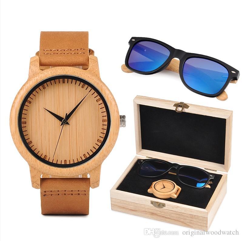 f9ecf9480d5 BOBO BIRD Lover S Christmas Gift BOBO BIRD Custom Wood Watch And Sunglasses  Gift Set For Men Women Present For Family Serengeti Sunglasses Sun Glasses  From ...