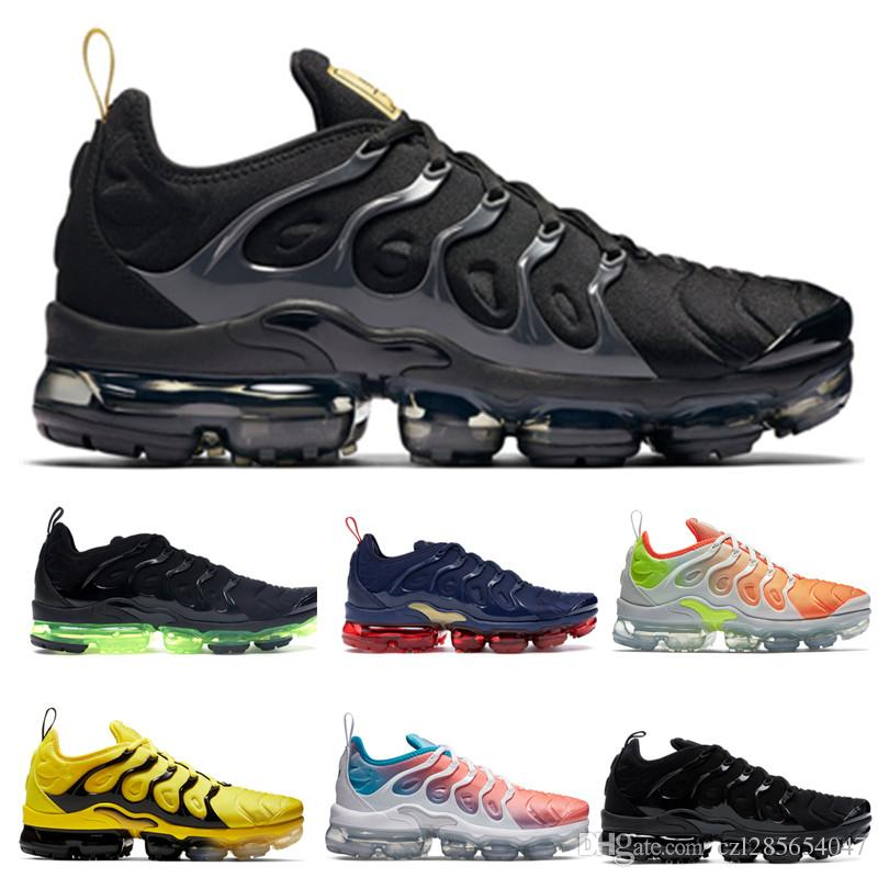 great fit 50d42 e3a4a 201 TN Plus Black Metallic Gold Anthracite Running Shoes Women Mens Shoes  Sports Bumblebee Triple Black TRIPLE Outdoor Sneakers Trainers Shoes Sports  Spikes ...