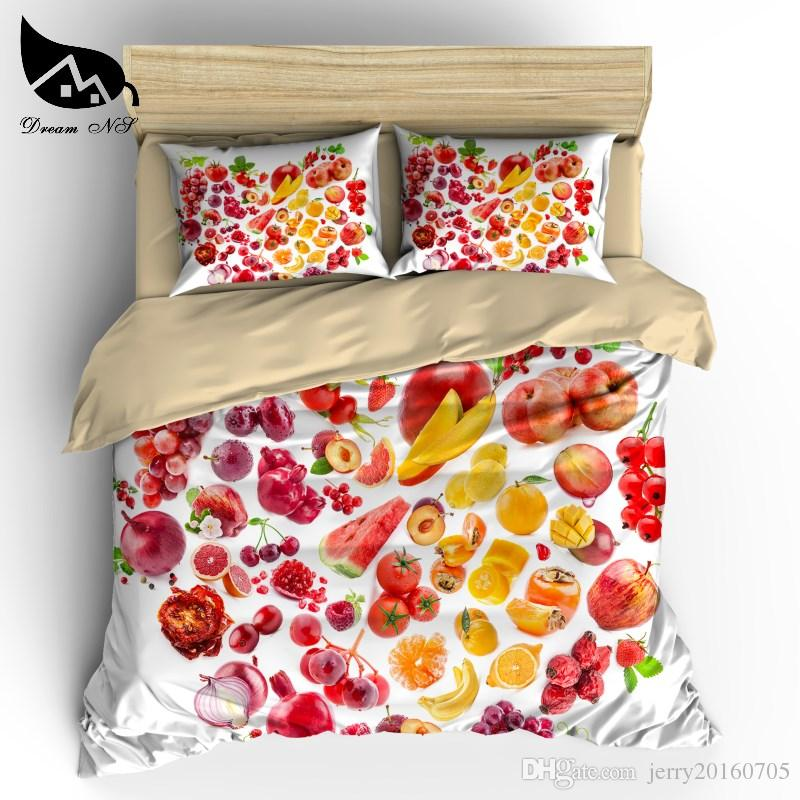 24f478c68a66 Fruit & Fruit Super King Bedding Set High Definition Digital Printing  Covered Red Purple Fruits Bed Set Customizable Bedding Sets Duvet Cove  Cheap Quilt ...