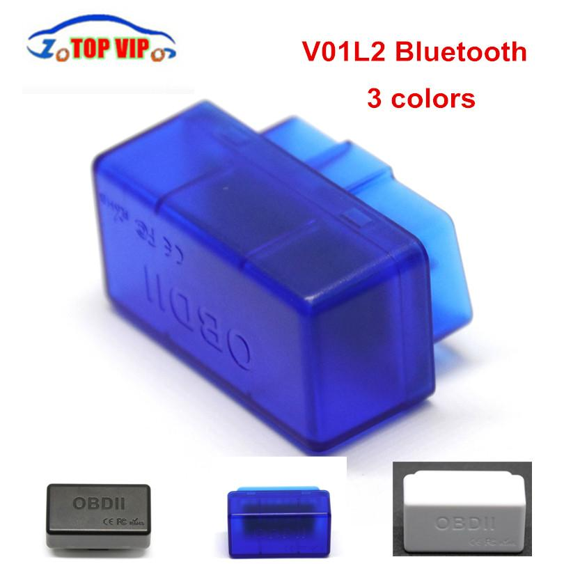 100pcs / серия DHL Super Mini ELM327 V1.5 Bluetooth сканер ELM 327 V1.5 С PIC18F25K80 OBD2 сканера Поддержка J1850 протоколов