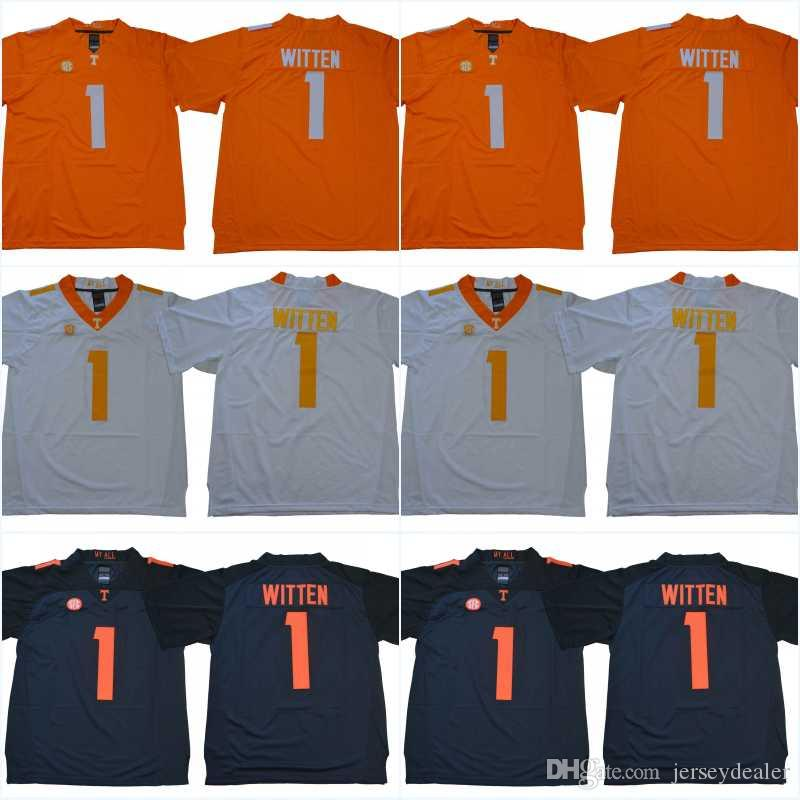 Mens NCAA Tennessee Volunteers Jersey 1 Jason Witten Stitched College Football Jerseys alta calidad envío gratis