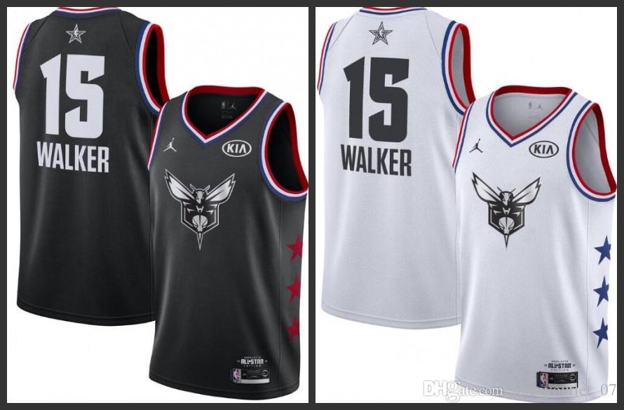 f8dd635be 2018 19 All Star Charlotte Men Hornets Basketball Jerseys Kemba Walker  Black White Jersey Tux Mens Fashion From Jerseyoutlet 07
