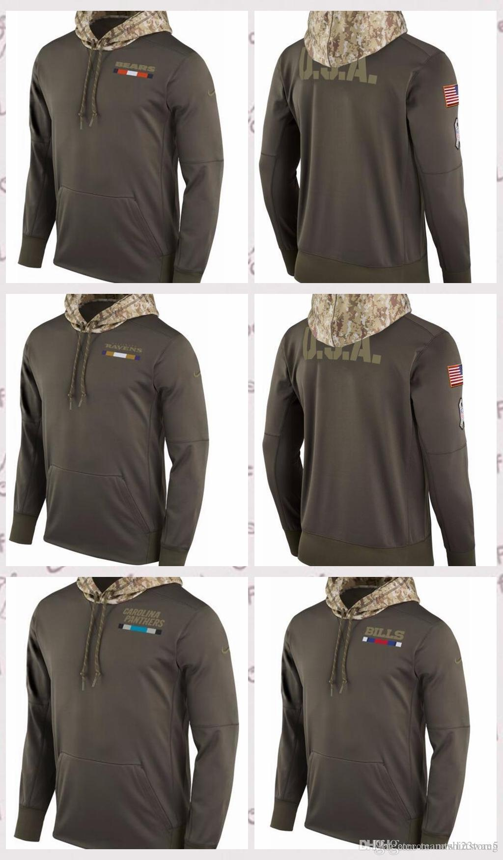 timeless design a6e7c 8dfae Men s Buffalo Bills Carolina Panthers Chicago Bears Salute to Service 2017  Therma-FIT Performance Hoodie