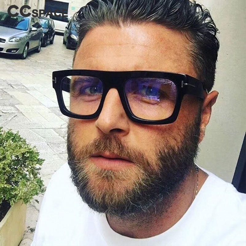 c8f002e32 Retro gafas cuadradas Marcos Hombres Mujeres Tendencias Estilos ...
