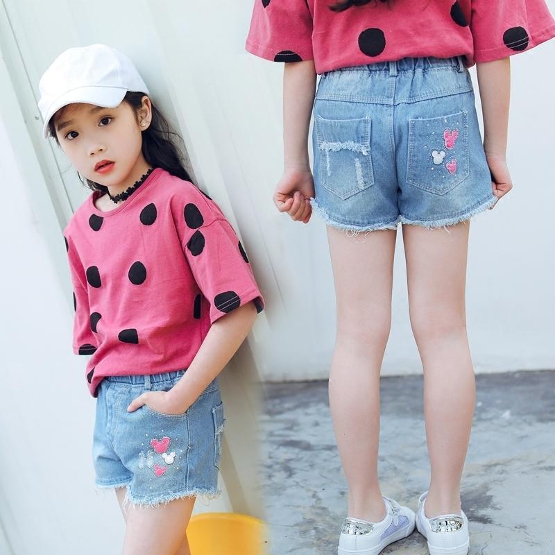 2fee2186d Girls Denim Shorts Summer Thin Section 2019 New Korean Children's Clothing  Children's Jeans Shorts