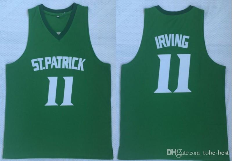 56a949209095 2019 NCAA New Kyrie Irving 11 St. Patrick High School Basketball Jersey  Green Stitched Retro Mens Shirts From Tobe Best