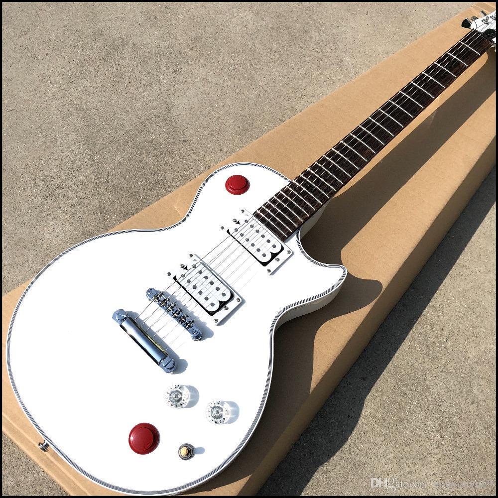 Chinese style kill switch Buckethead guitar 24 electric guitar Frets, white alpine guitar, selling high quality