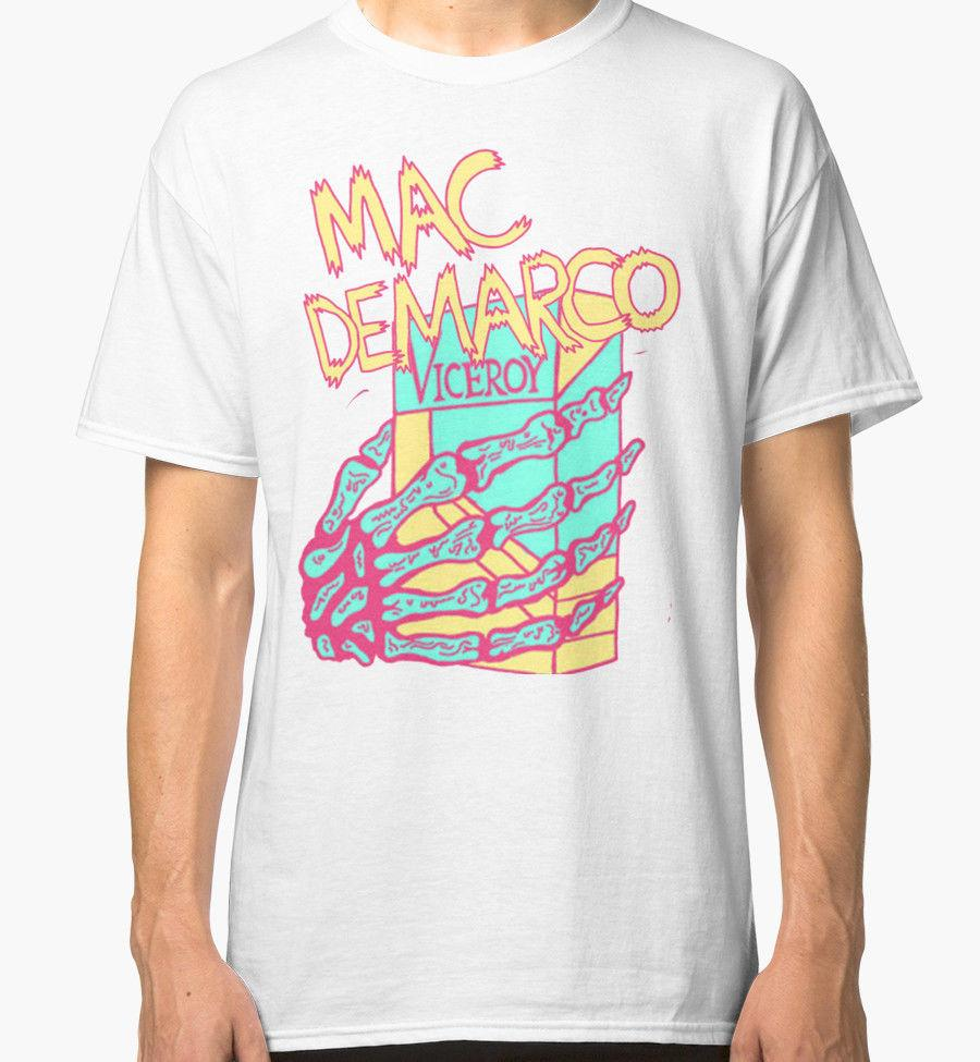 36f34ce7a Mac DeMarco Men's White Tees Shirt Clothing MENS T-SHIRT Tee Printed Men  Classic Casual T Shirt