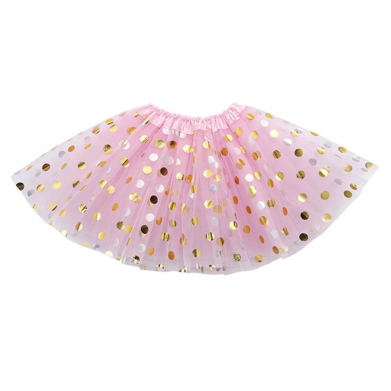 Girls Clothes Kids Girls Skirt Toddler Baby Kids Girls Solid Dot Sequins Tutu Skirt Party Dance Ballet Clothes jupe fille N29