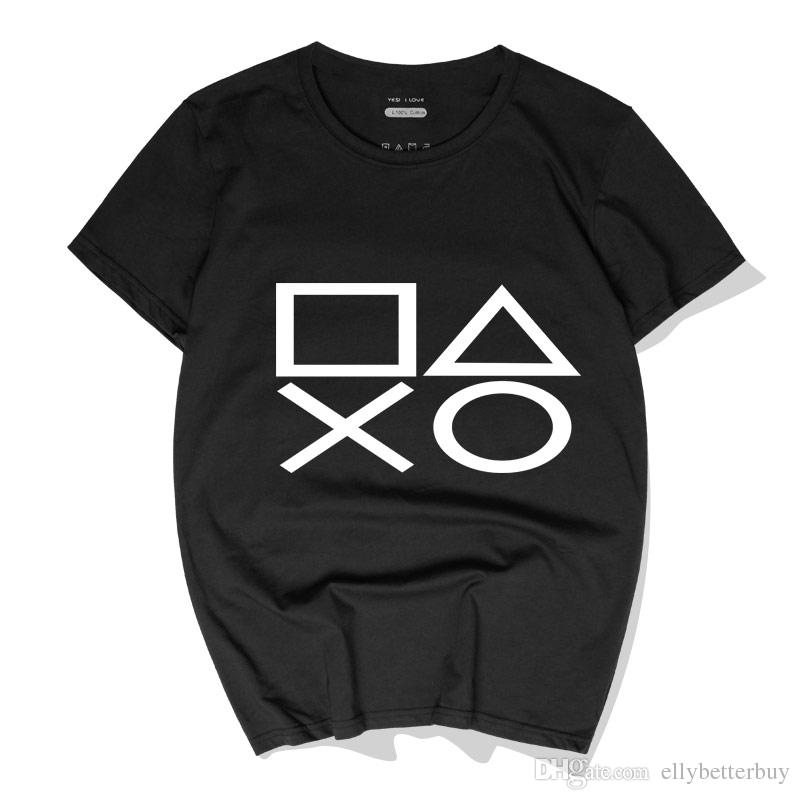 Casual Men T-Shirts Game PS4 Playstation Hip Hop Cotton Tees Tops New Fashion Short Sleeve Round Neck Polos High Quality Streetwear
