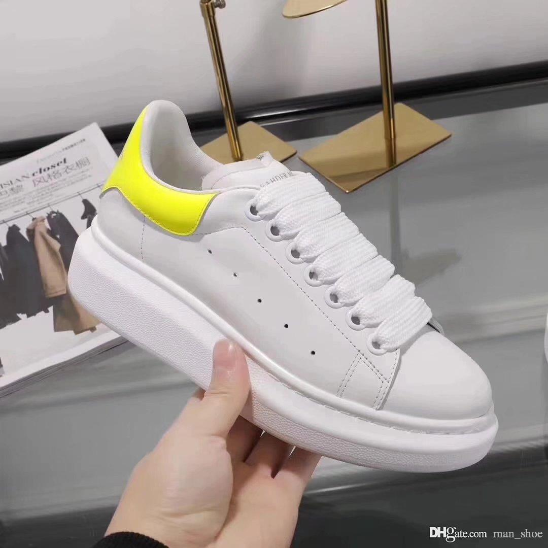 8cc495e5 2019 Oversized Stockx 2019 Designer Shoes White Black Leather Casual ...