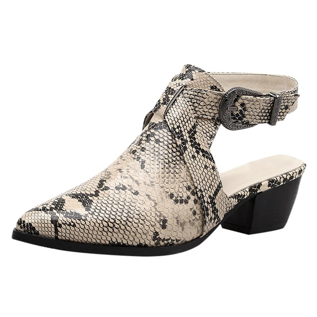 86110567 Compre Zapatos Con Diseño De Serpiente De Moda Para Dama Zapatos De Mujer  Punta Estrecha Otoño Invierno Serpentina Con Tacón Bajo Con Cordones Damas  Botas ...