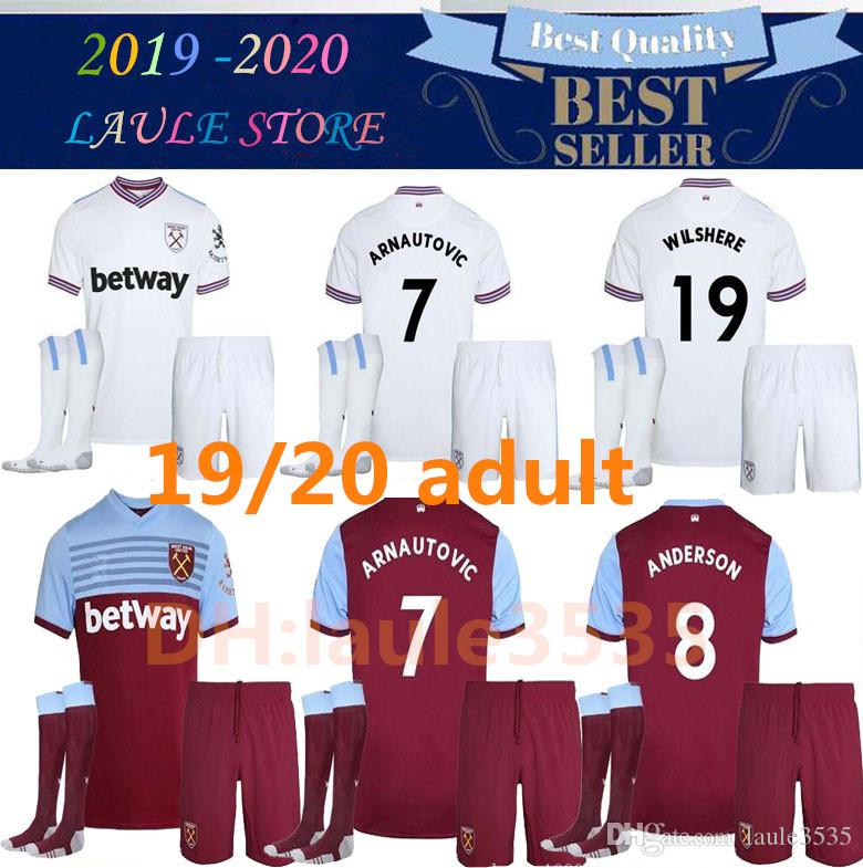 finest selection 2285d fd564 ADULT KIT 19 20 West Ham football team jersey United 2019 2020 home away  WILSHERE Anderson Chicharito LANZINI ARNAUTOVIC Yarmolenko football