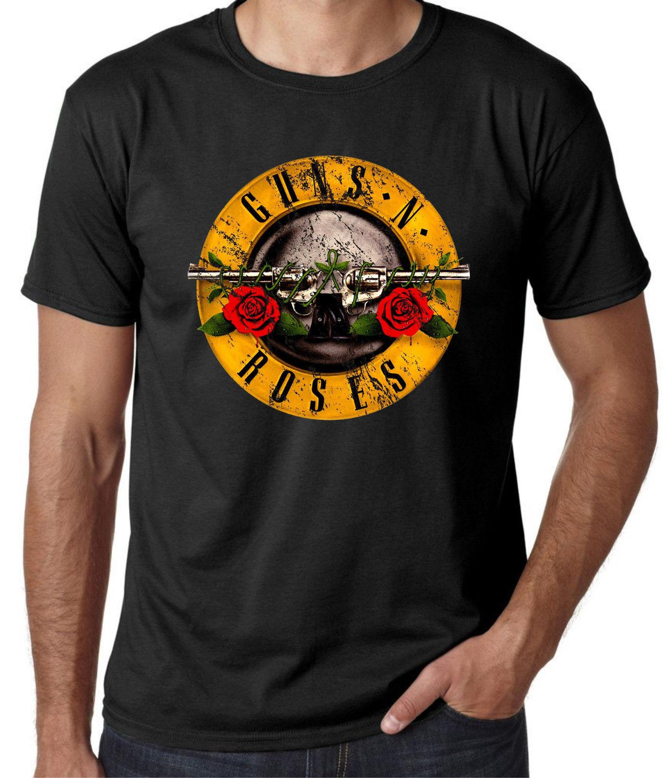 10449287c81 Guns An Roses T Shirt Vintage Mens Women Unisex Black Rose Rock Band Music  Hipster New 2018 Hot Summer Casual Printing Men S Cool Tshirts Printed  Crazy ...