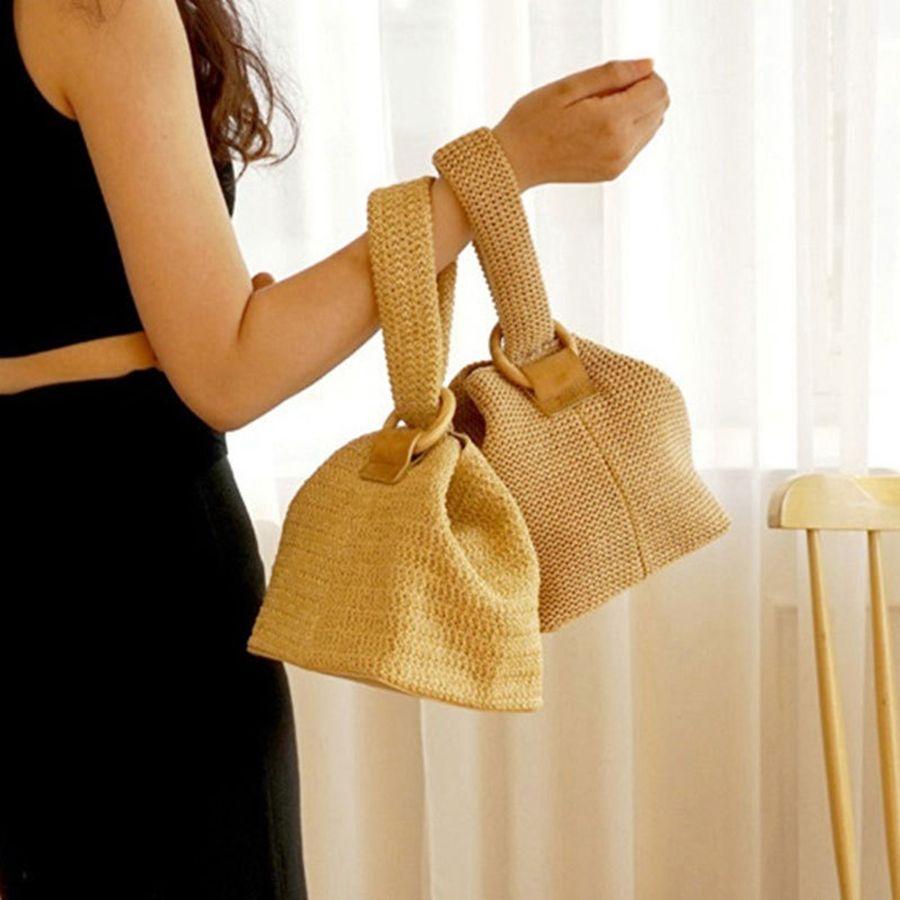 0f47758dfb Straw Bags For Women Beach Bag Personality Crossbody Lock Handbag Lady  Vintage Handmade Knit Fashion Shoulder Bag RRA653 Cute Maternity Clothes  Online ...