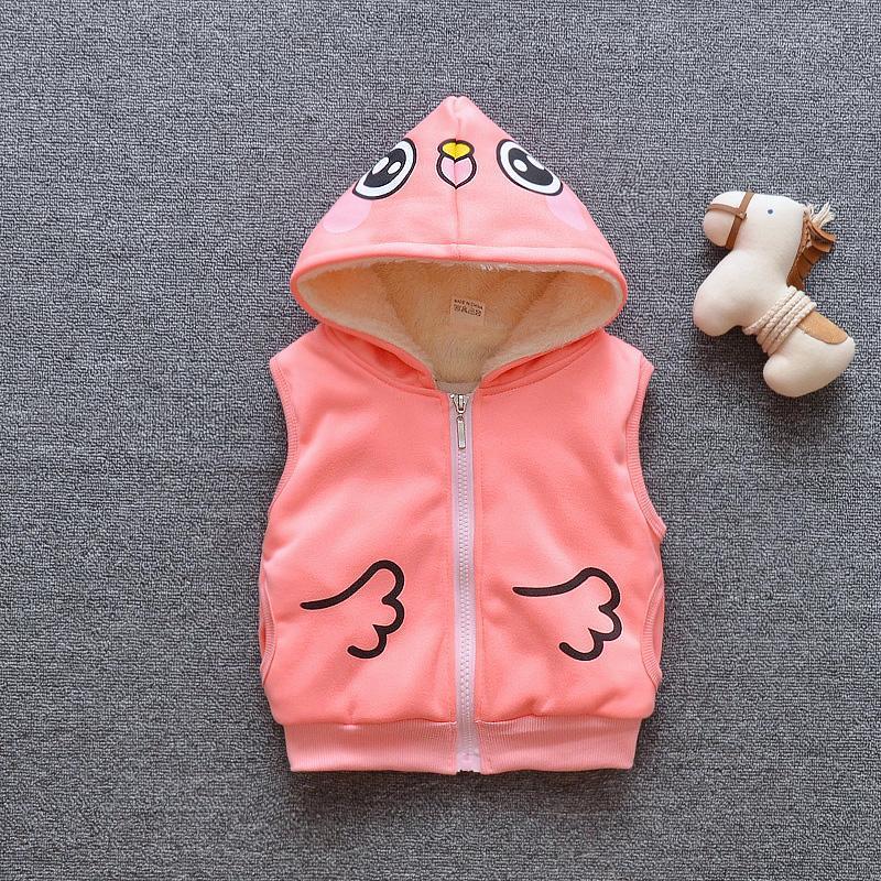 7266c99ddccb Children s Vest Winter Thicken Warm Plus Velvet Baby Waistcoat Boys ...