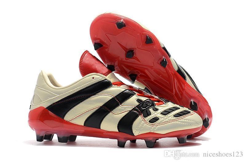 outlet store 95dee 29705 2019 Predator Accelerator Elettricità FG David Beckham diventa scarpe da  calcio Scarpe da calcio da uomo Tacchetti da calcio