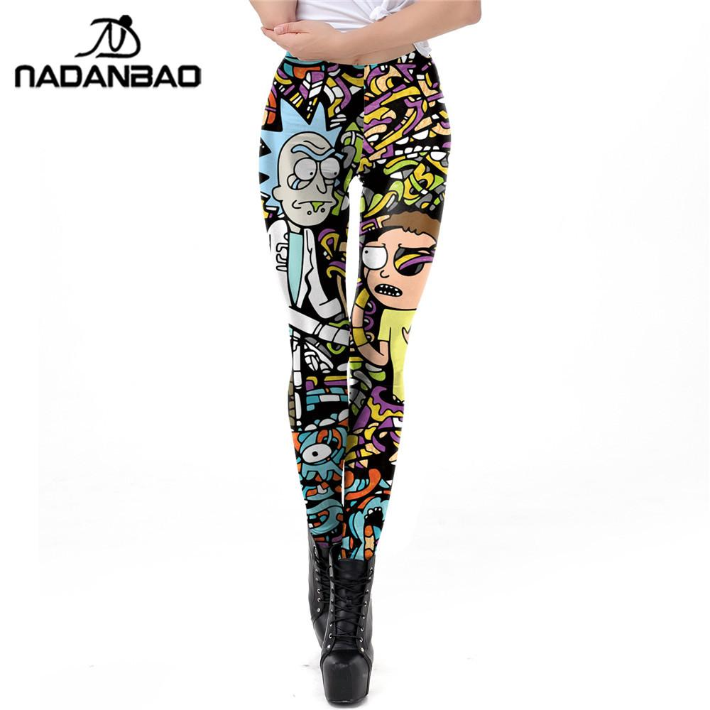 aed6aa35af324 2019 NADANBAO Cartoon Printed Leggings Women Rick And Morty Plus Size  Leggin Workout Modis Fitness From Qyzs001, $13.47 | DHgate.Com