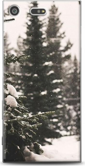Dynamics for sony xperia xz premium case snowy pine tree pattern case ship from turkey HB-000844997