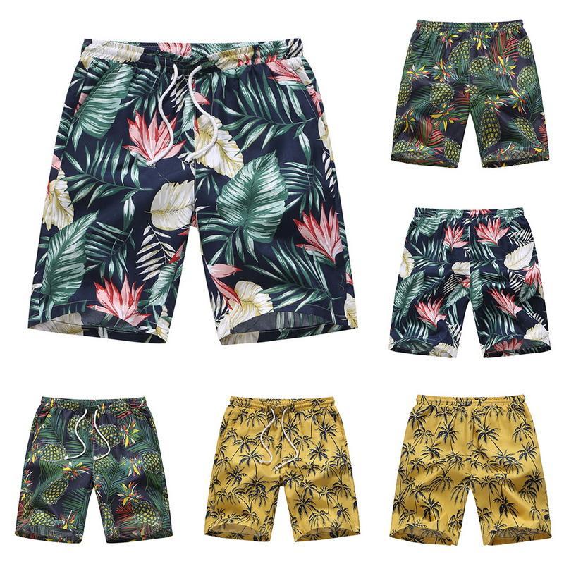 c152448bd366 Moda para hombre Estampado floral Pantalones cortos de playa Tablero de  baño de verano Pantalones cortos Traje de baño Playa Boardshorts Troncos ...