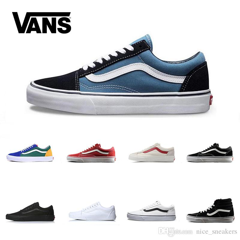 567070e009cb Brand Vans Old Skool For Men Women Casual Shoes Canvas Sneakers Black White  Red Blue Mens Fashion Cheap Sport Skateboard Shoe Office Shoes Running Shoes  ...
