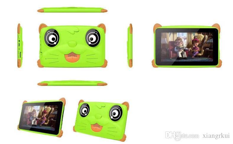 2019 kid Tablet PC Quad Core 7 дюймов 1024*600 HD экран Android 5.1 AllWinner A33 real 512MB RAM 4GB ROM Q8 с Bluetooth wifi