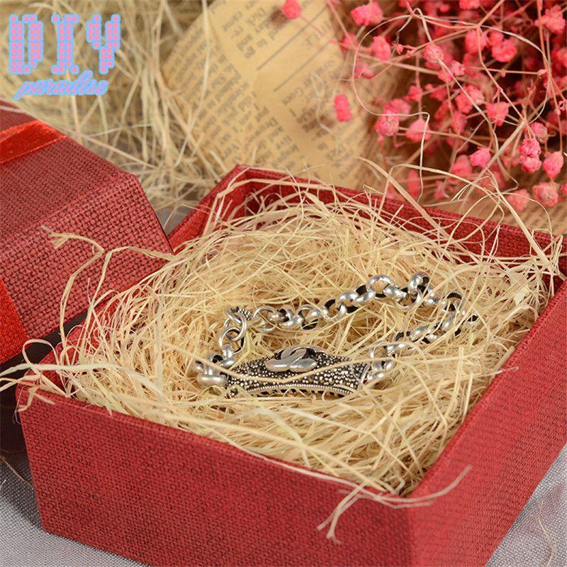 500g / sac coloré artisanat déchiqueté froisser la boîte de bonbons Raphia / boîte-cadeau matériau de remplissage matériau de remplissage de papier de soie décoration de parti