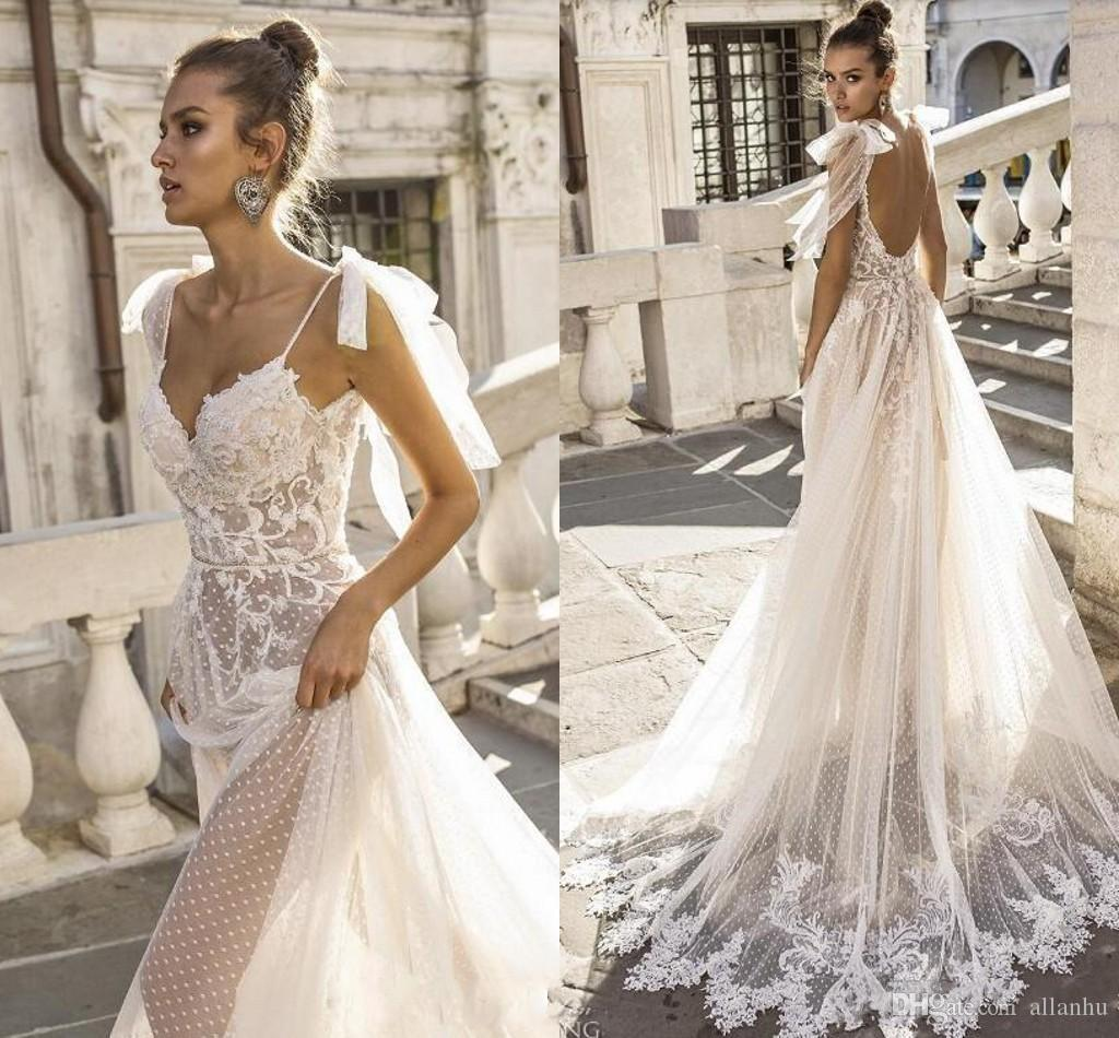 Non Traditional Wedding Dress Boho: 2019 Sexy Beach Boho Wedding Dresses Spaghetti Straps