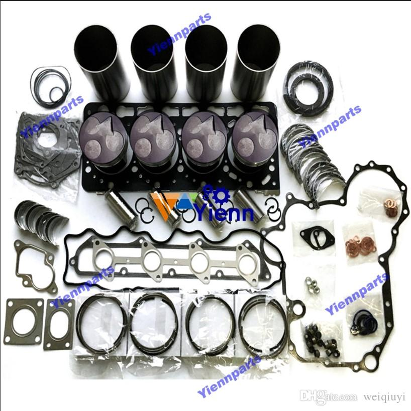 V3300 engine rebuild kit with valve for Kubota Excavator Loader harvester  diesel engine overhaul kit repair parts