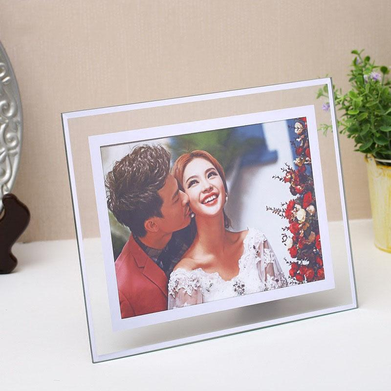 2019 Crystal Glass Photo Frame A4 Photo Frame Wall For Picture