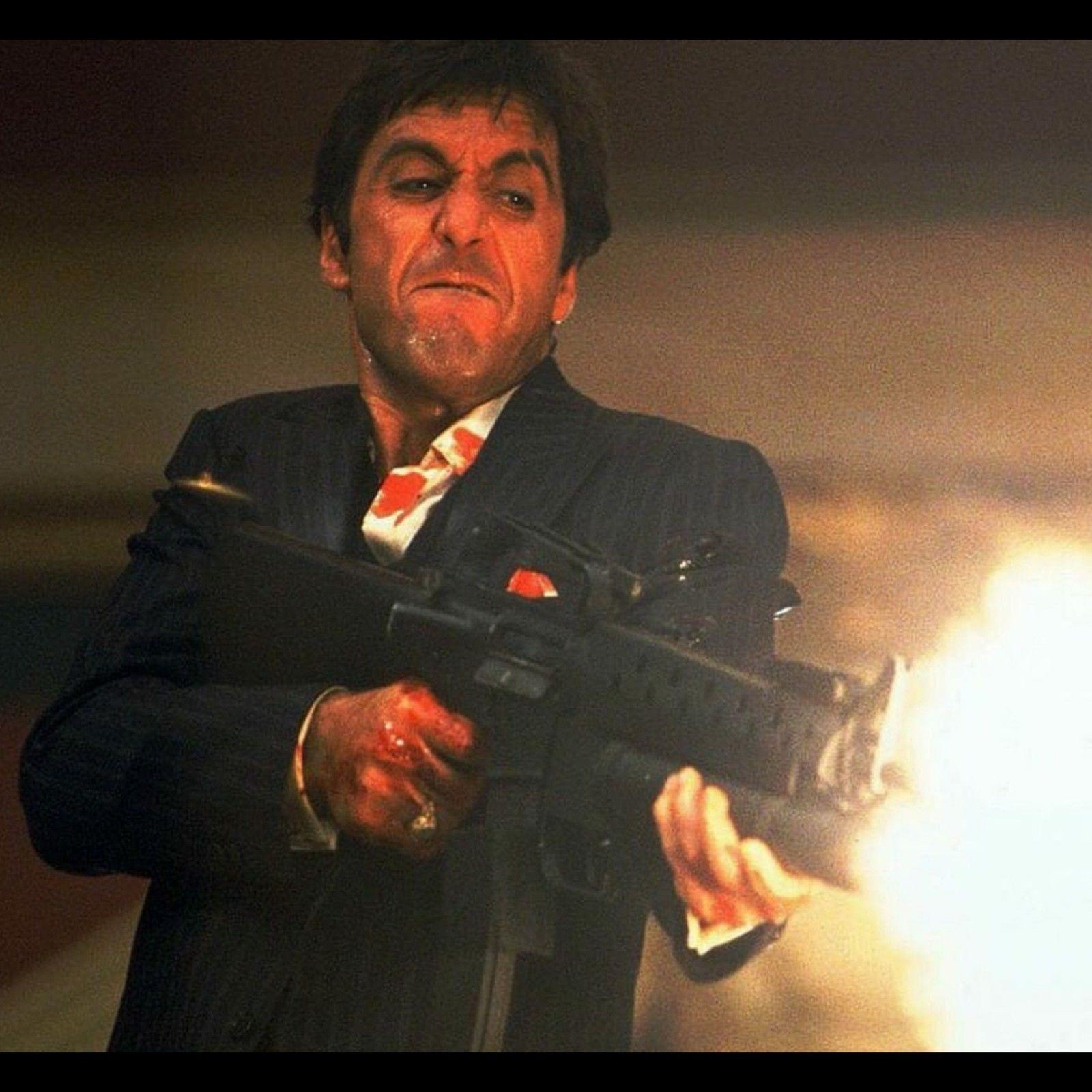 Al Pacino Scarface Decor Art Silk Print Poster 24x24inch Wall