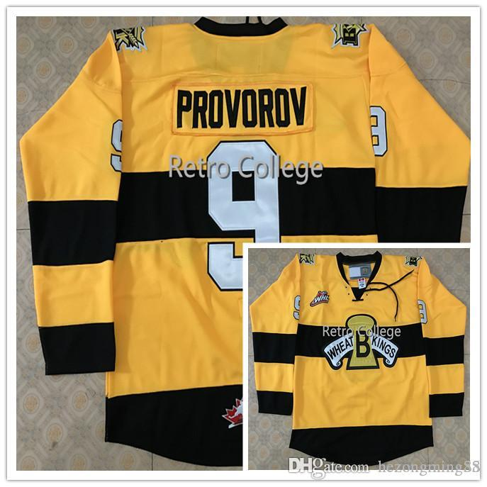 2019 Brandon Wheat Kings 9 Ivan Provorov 19 Nolan Patrick Men S RETRO Hockey  Jersey Embroidery Stitched Customize Any Number And Name From Hezongming55 00149345e