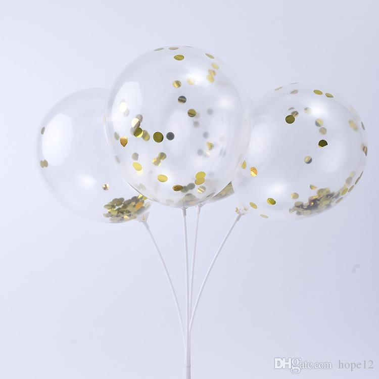 New Fashion Multicolor Latex Sequins Filled Clear Balloons Novelty Kids Toys Beautiful Birthday Party Wedding Decorations 12 inch 500pcs