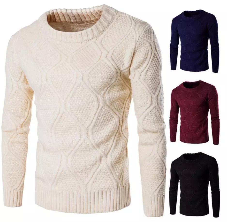 Winter Neue Hohe Kragen Pullover Männer Warmen Dicken Mode Plaid Lose Gefälschte Zwei Stücke Stricken Pullover Mann Beiläufige Männliche Kleidung