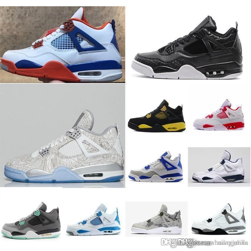 cbdb0e6b104834 Cheap New Mens Jumpman 4 IV Basketball Shoes 4s White Game Royal ...