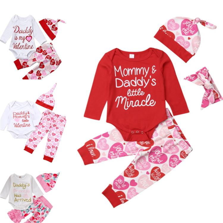 2018 2019 Baby Girl Valentines Day Outfits Daddy Is My Valentine