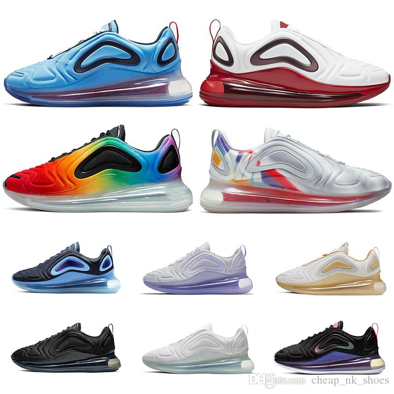 grande vente a249a 85307 nike airmax air max 720 2019 espadrilles pour hommes femmes Be True Pack de  Pâques GYM RED PLATINE MÉTALLIQUE Spirit Teal chaussures de sport de mode  ...