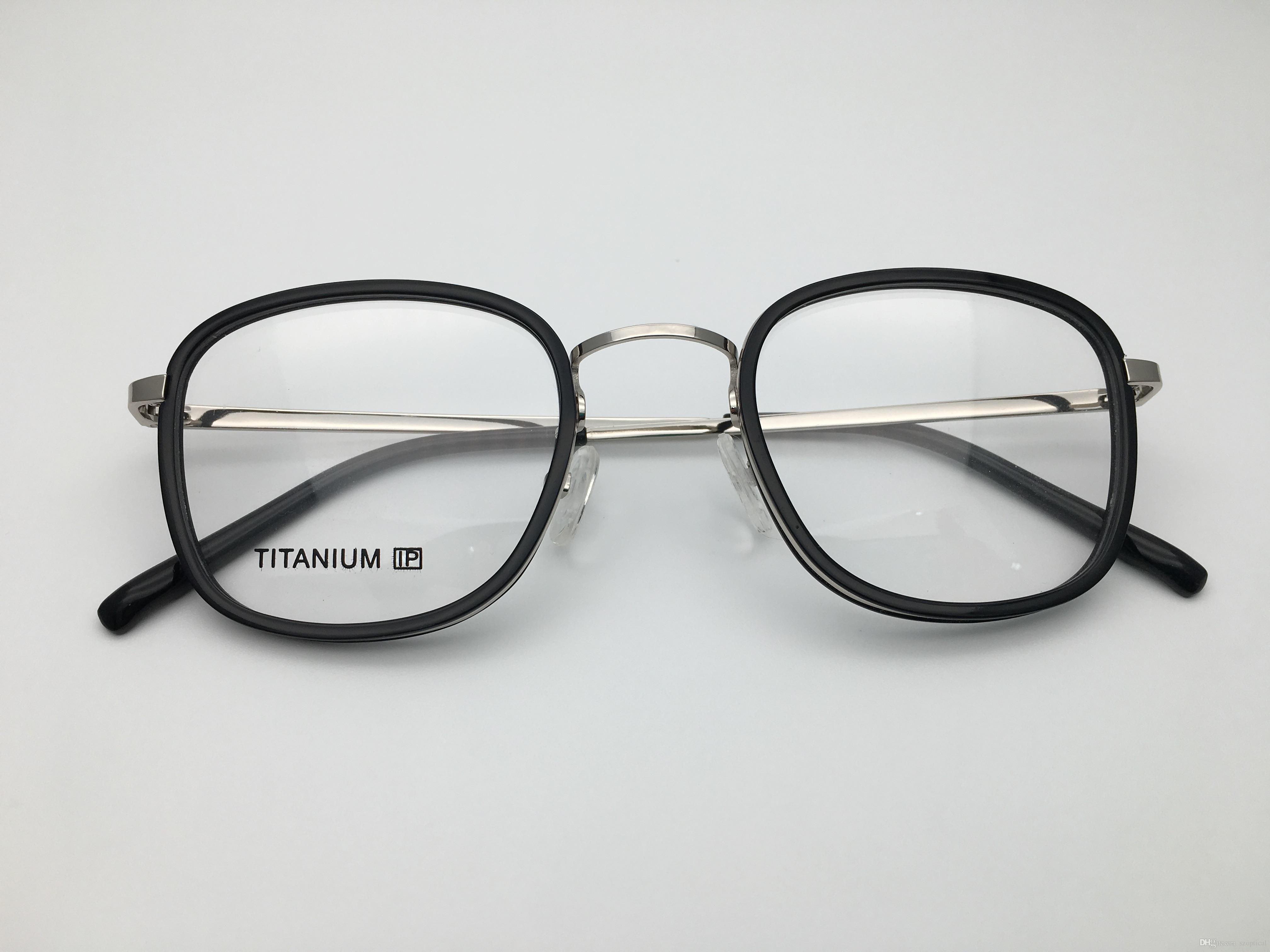 Femmes Marque Gu1967 Rétro Corrects Lunettes Titane Vintage Design De Forme Carrée Optique Verres Qualité Monture Top bfYy6vg7