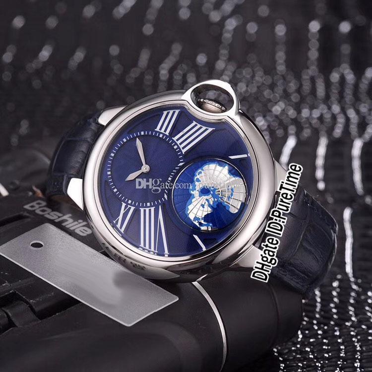 db4db09824dd Compre Nuevo Estilo Caja De Acero Globo Mundial Dial Azul Gran Marca De  Roma Autoamtic Reloj Para Hombre Azul Relojes Deportivos es De Calidad Superior  Para ...