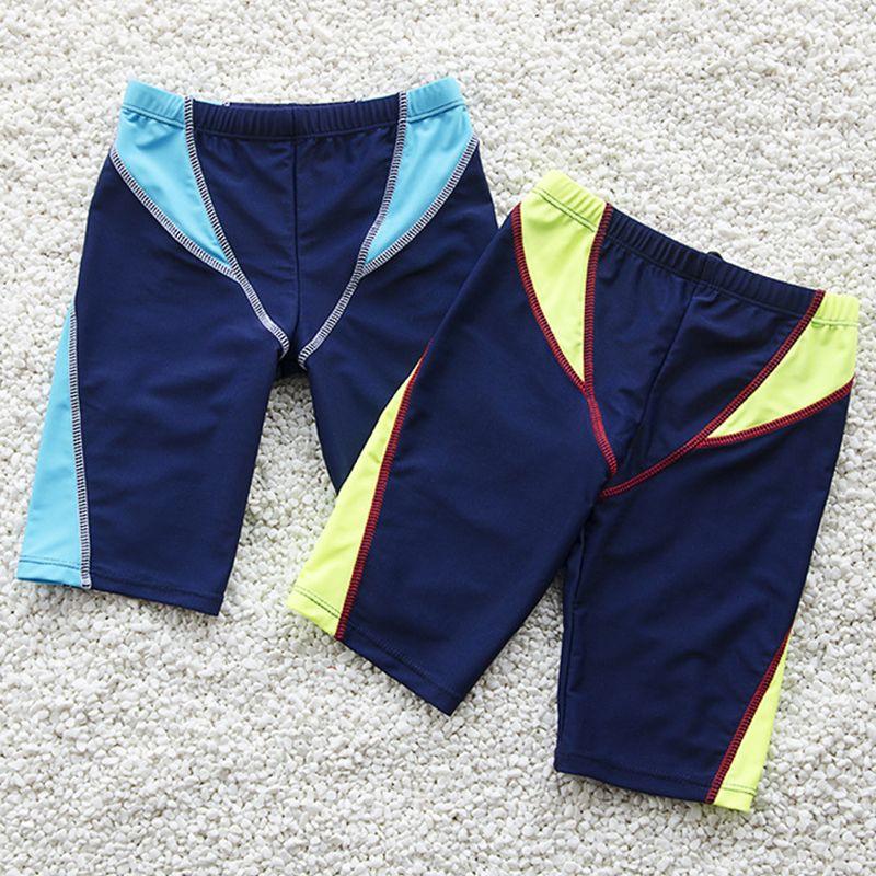 89b2a5530a Boys Swim Trunks Kids Knee Length Shorts Swim Beach Wear Fifth Pants ...