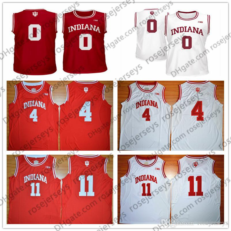 best service c0365 726b2 NCAA Indiana Hoosiers #0 Romeo Langford 4 Oladipo 11 Thomas Victor Isiah  Devonte Green Red White Stitched College Basketball Hot Sale Jersey