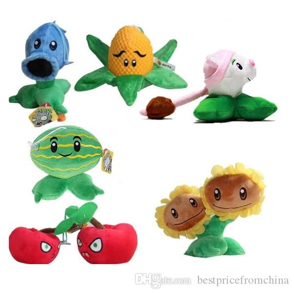 6Pcs Plants VS Zombies Peluche Animali di peluche Small Size 15-20cm / 6-8Inch Tall