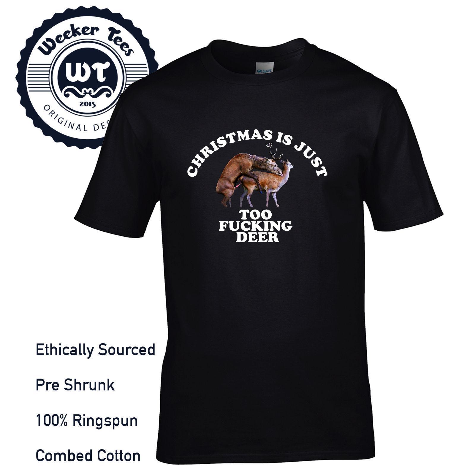 T Shirt Weihnachten.Weihnachten Ist Zu Fucking Reh T Shirt Lustig Nsfw Herren Geschenk Frech