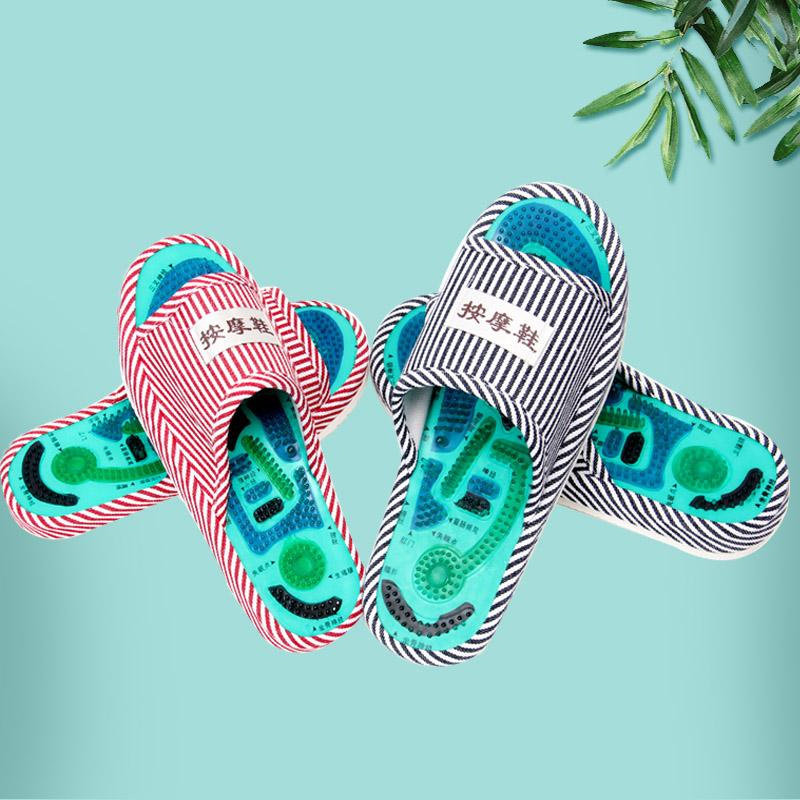 31c4c3bb9 Healthy Striped Pattern Reflexology Foot Acupoint Slipper Massage Promote  Blood Circulation Relaxation Foot GOOD Care Shoes 25cm Online with   22.74 Piece on ...