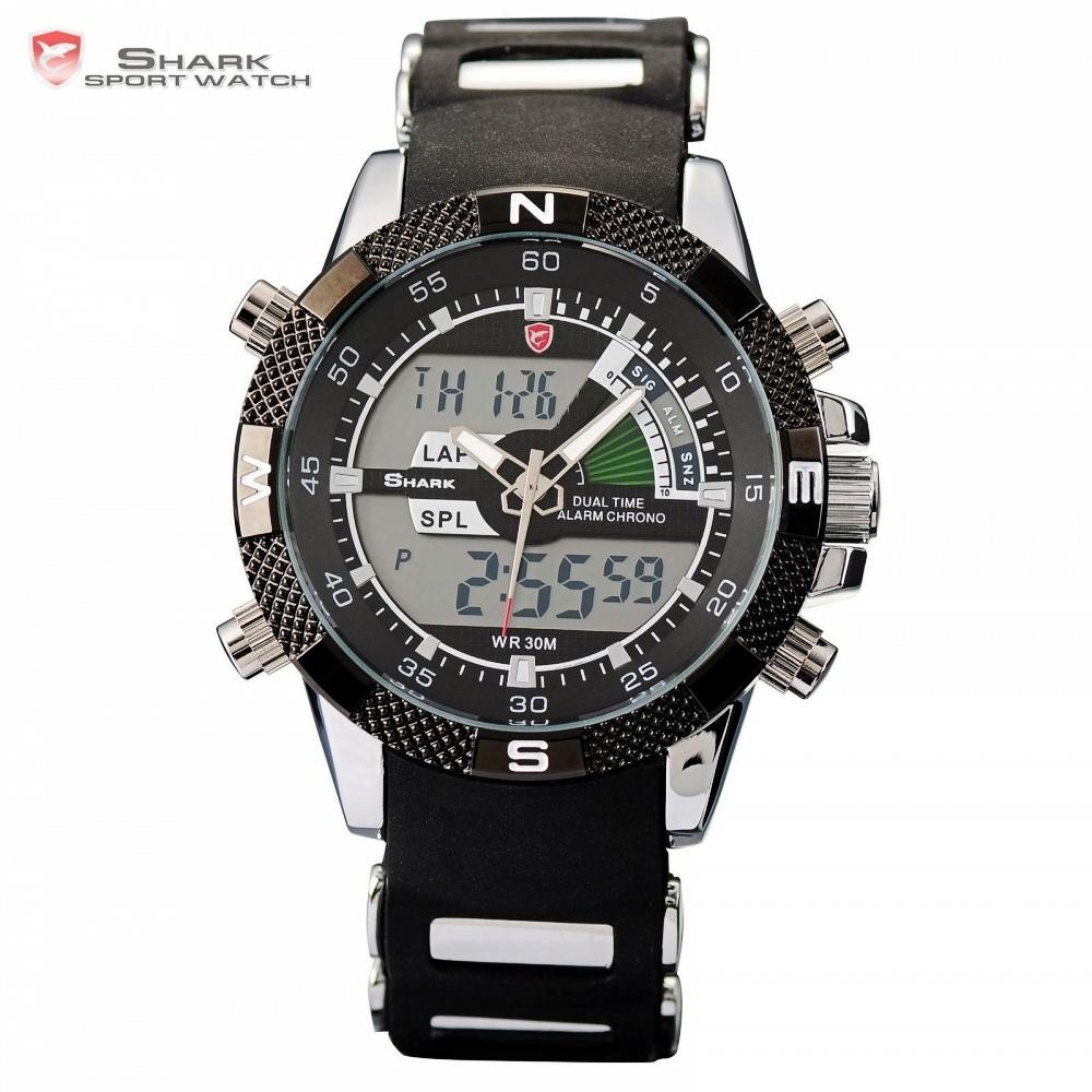 b28ddb595b0 Porbeagle Shark Sport Watch Black Military Rubber Band Hiking Digital Lcd Electronic  Watches Date Chronograph Male Clock  Sh042 Y19021402 Watch Buy Buy A ...
