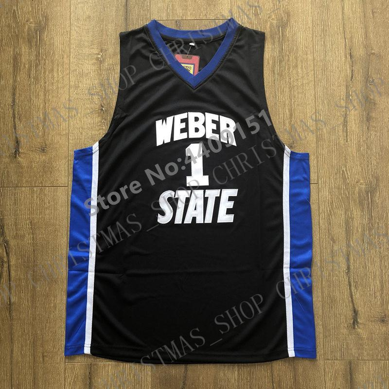 info for e6b17 a24bb 2019 New Mens Damian Lillard #1 Weber State Wildcats College Basketball  Jersey S-XXL Personalized custom any name number XS-5XL