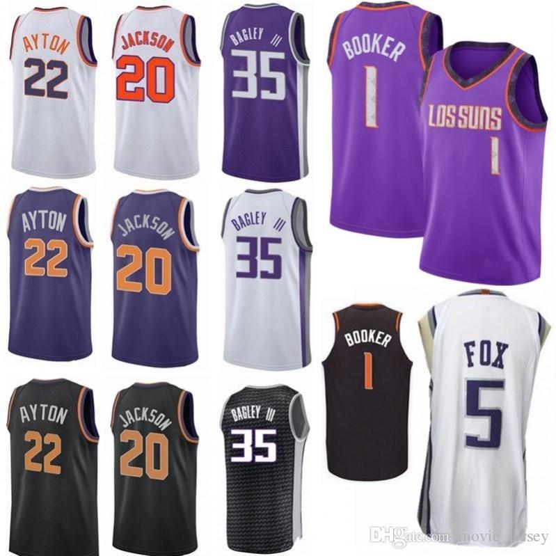 8f53b1c2e 2019 2019 Earned Edition City 1 Devin Booker Phoenix 20 Josh Jackson 22  DeAndre Ayton 5 DeAaron Fox 35 Marvin Bagley III Sacramento Suns Jersey  From ...